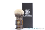 WSP Stubby | Superfine Badger Brush | Faux Horn Handle