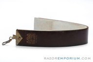 Brown Beauty Shell Cordovan Horsehide Straight Razor Strop
