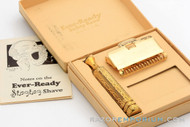 1930's Gem 1912 - Gold Chain Handle Style Single Edge Safety Razor Set