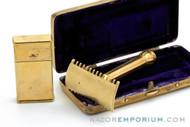 1914 Gillette Basketweave Pocket Edition - Old Type Shell (DE) Razor Set