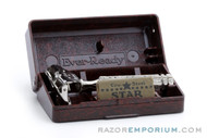 1930s Ever-Ready 1912 Style Chain Single Edge Razor with Mahoganite Box