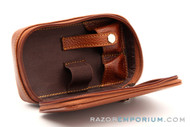 Parker Leather Safety Razor Travel Case LP4