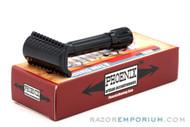 Phoenix Artisan Accoutrements Bakelite Open Comb Slant - Black 3-Piece Safety Razor
