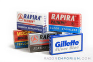 Double Edge Safety Razor Blade Sample Pack - Russian