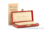 "1940's Rolls Razor ""Popular"" Model Safety Razor in Red Case"