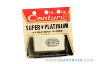 Century Super + Platinum Double Edge Blades - Excellent