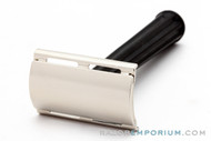 1940's Gillette Bakelite Handle Tech Double Edge Razor Factory Nickel Revamp
