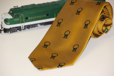 Southern Railway Gives a Green Light to Innovation;  this slogan from the 1960s is interpreted with a green railroad lantern.