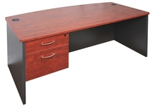 Rapid Manager Bow Front Desk 1800 wide x 950 deep