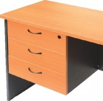 Rapid Worker 3 Drawer Fixed Pedestal - 3 Desk Drawers