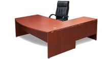 DDK Silhouette Bow Front Desk & Return 2100x900