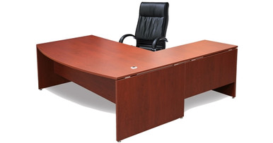 Executive Office Desks: Buy DDK Silhouette Bow Front Desk ...