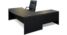 DDK Silhouette Crescent Executive Desk & Return 2100x900
