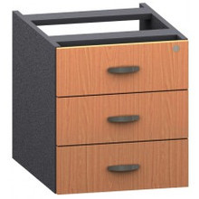 Accent 3 Drawer Fixed Pedestal 404 Wide X 505 Deep X 445Mm High