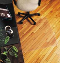Marbig 87201 Hard Floor Chair Mat Small 910Mm X 1210Mm Keyhole Shape