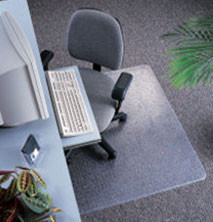 Marbig 87330 Dura Mat Chair Mat Small 950Mm X 1210Mm Keyhole Shape
