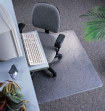 Marbig 87335 Dura Mat Chair Mat Large 1140Mm X 1340Mm Keyhole Shape