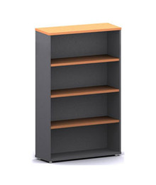 Accent Bookcase 3 Shelves 1500 High X 900 Wide X 300Mm Deep Ironstone & Beech