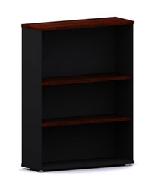 Accent Bookcase 2 Shelves 1200 High X 900 Wide X 300Mm Black & Redgum