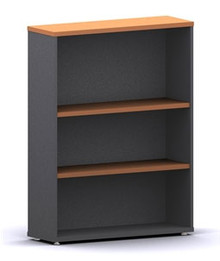 Accent Bookcase 2 Shelves 1200 High X 900 Wide X 300Mm Deep Ironstone & Beech