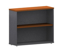 Accent Bookcase 1 Shelf 900 High X 900 Wide X 300Mm Deep Ironstone & Cheerywood