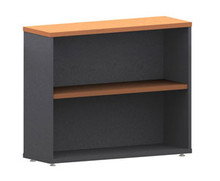 Accent Bookcase 1 Shelf 900 High X 900 Wide X 300Mm Deep Ironstone & Beech
