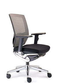 VEGAS MEDIUM MESH BACK OFFICE CHAIR WITH ARMS