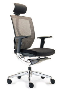 VEGAS HIGH MESH BACK OFFICE CHAIR WITH ARMS & HEADREST