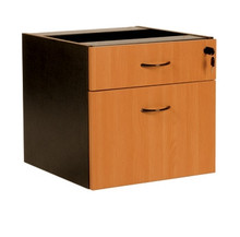 Oxley Fixed Pedestal - 1 Desk Drawer & 1 Filing Drawer