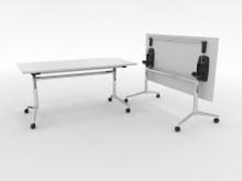 Uni Flip Table 1200mm long x 750mm wide - chrome frame