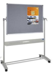Mobile COMBO Whiteboard & Felt Pinboard
