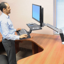 Ergotron Workfit-A Sit Stand Desktop with Suspended Keyboard
