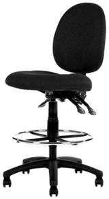 YS Design YS21D Lincoln Medium Back Drafting Chair - Black