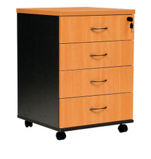Oxley Mobile Pedestal - 4 Drawer
