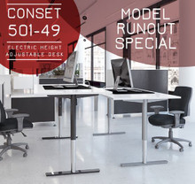 Conset 501-49 Sit Stand Desk Run Out Special