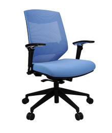 Vogue Mesh Back Office Chair  - Blue