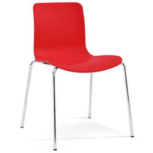 Dal Acti Chrome 4 Leg Chair Red