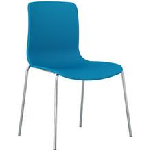 Dal Acti Chrome 4 Leg Chair Ocean Blue