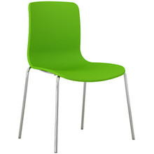 Dal Acti Chrome 4 Leg Chair Lime Green