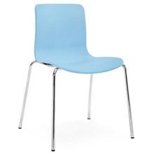 Dal Acti Chrome 4 Leg Chair Pale Blue