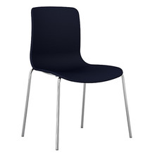 Dal Acti Chrome 4 Leg Chair Navy Blue