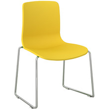 Dal Acti Chrome Sled Base Chair Yellow