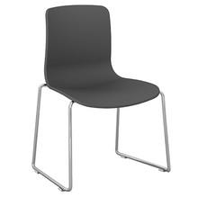 Dal Acti Chrome Sled Base Chair Light Grey