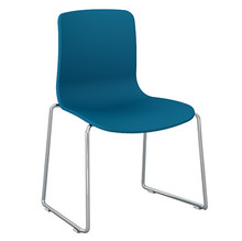 Dal Acti Chrome Sled Base Chair Ocean Blue