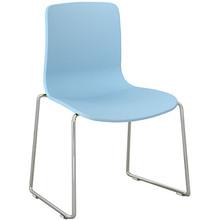 Dal Acti Chrome Sled Base Chair Pale Blue