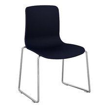 Dal Acti Chrome Sled Base Chair Navy Blue