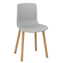 Dal Acti Wooden 4 Leg Chair Light Grey