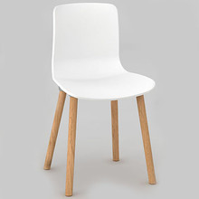 Dal Acti Wooden 4 Leg Chair White