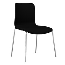 Dal Acti Chrome 4 Leg Chair Black Shell / Black Vinyl