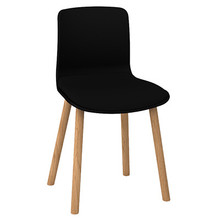 Dal Acti Wooden 4 Leg Chair Black Shell / Black Vinyl